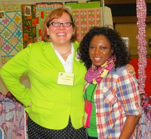 Me & and Jessica Giardino of Sew News.  I made that infinity scarf in the Make It Center.  Yay Me!