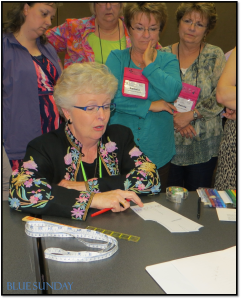 Lorraine Henry at the Original Sew and Quilt Expo in Ft Worth, TX